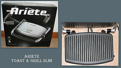 Ariete Toast & Grill Slim Tostapane Barbecue Bistecchiera Plate Grill Toaster