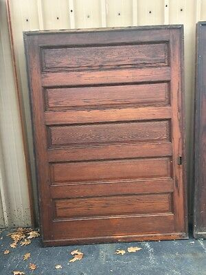 Cm 111 3 Available Price Separate Antique Oak Pocket Door 5' X 84.5""