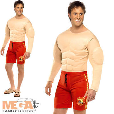 Baywatch Lifeguard Mens Fancy Dress Swimming Uniform TV Show Costume Outfit New  sc 1 st  PicClick UK & BAYWATCH LIFEGUARD MENS Fancy Dress Swimming Uniform TV Show Costume ...