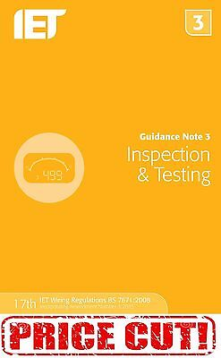 Guidance Note 3: Inspection and Testing (Electrical Regulations) 9781849198738