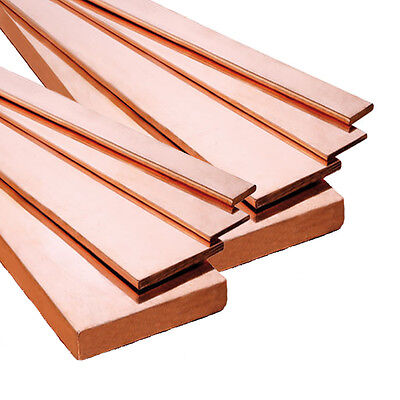 C101 GRADE COPPER FLAT BAR 25mm or 30mm Choose a Length (Milling / Metalworking)