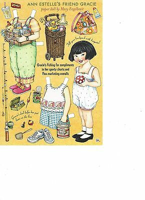 Mary Engelbrite Paper Doll Print Uncut Gracie Aug/Sept 2003 New