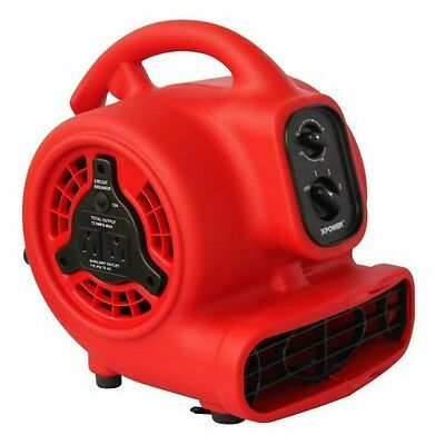 XPOWER P-200AT 1/8 HP Mini Air Mover- Dryer- Fan- Blower with Build-in Power Out