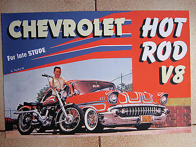 POSTER Chevrolet anni 50' Hot Rod Harley