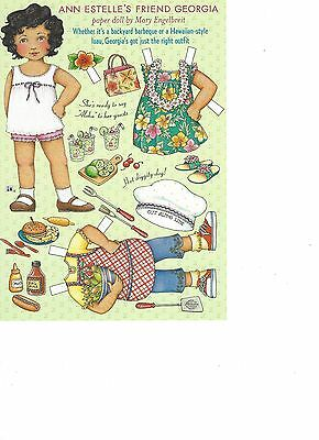 Mary Engelbrite Paper Doll Print Uncut Georgia June/July 2003 New