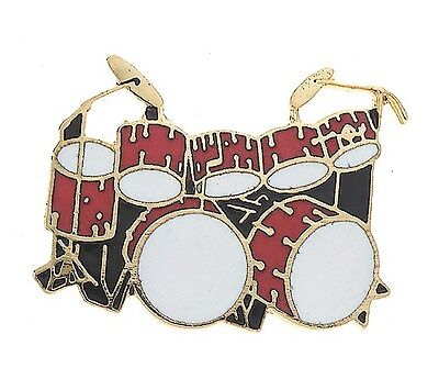 Mini Pin: Double Bass Drum Set (Red). Drums