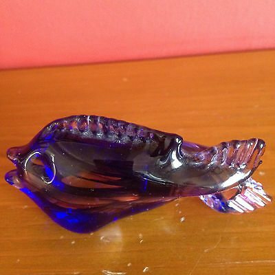 Collectable Glass Blue & Pink Tropical Fish
