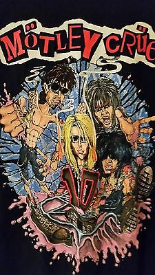 MOTLEY CRUE 10 (Decade) 1991 vintage licensed concert tour shirt Extra Large