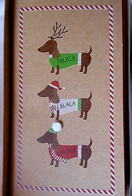 "Boxed Set of 14 Dachshund Doxie Dog Holiday Christmas Cards ""Happy Howlidays"""