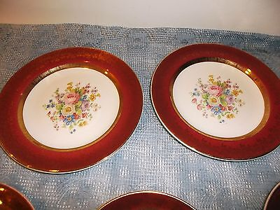 Aristocrat Salem China by Century Made in USA 23K encrusted gold