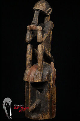 Discover African Art Stunning Dogon Mask with Custom Mount