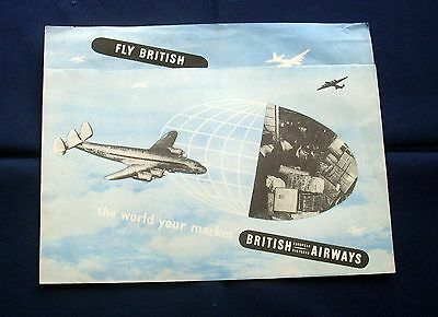 Vintage Original BOAC/British Airways Leaflet 1950/1960s Era