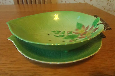 Carlton Ware Apple Blossom  Salad Drainer Bowl With Under Plate