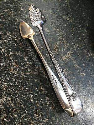 Antique silver shell tongs