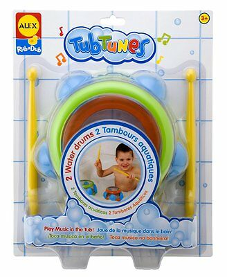 ALEX Toys Rub a Dub Tub Tunes Water Floating Drums For Kids, Ages 3 Years And Up