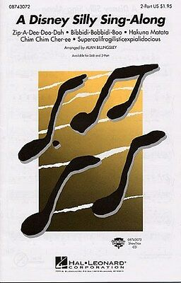 A Disney Silly Sing-Along (2-Part). Choral Sheet Music