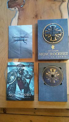 """Black Library """"Arjac Rockfist """" Ben Counter Deluxe Ltd Ed. B/N Signed 500 copies"""