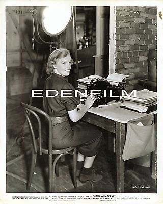 "Vintage Original 8X10- Frances Farmer- On Set- 1936- ""come And Get It"" Publicity"