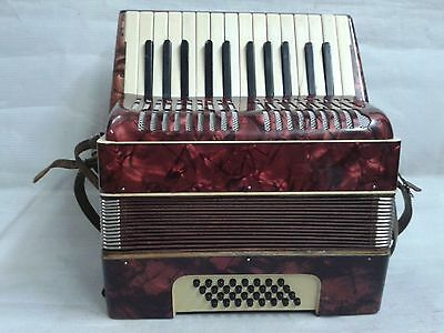 Vintage German Piano Accordion Weltmeister-32 Bass