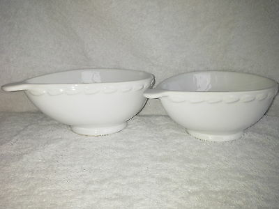 Carlton Ware Plain White Glazed Avocado Dishes X 2 or for  Starters or Dips