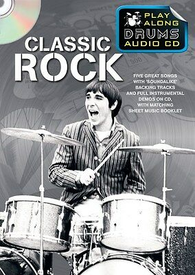 Play Along Drums Audio CD: Classic Rock. CD, Sheet Music
