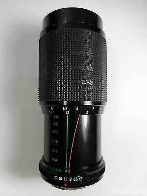 Rokinon Lens Auto Zoom Super Coated 1:4.5 f=80-200mm Ø52