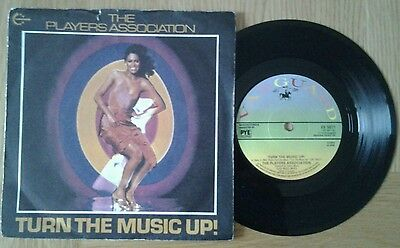 """The Players Association - Turn The Music Up 7"""" 45Rpm Vinyl Single"""