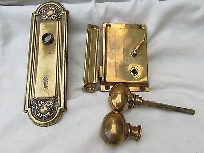 Vintage Sargent Door Knob Lock Set Brass or Bronze, Reclaimed
