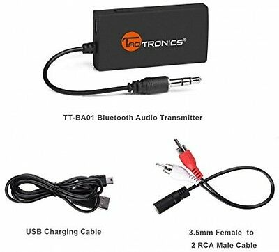 Portable Wireless Stereo Music Bluetooth Transmitter 3.5mm Audio Devices TV PC