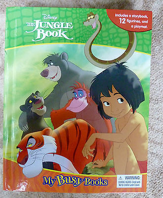 The Jungle Book My Busy Books Set Story 12 Figurines, A PlayMat - New