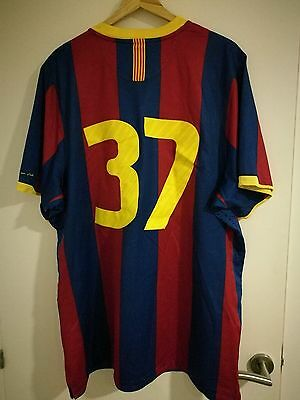 camiseta match worn fútbol club barcelona