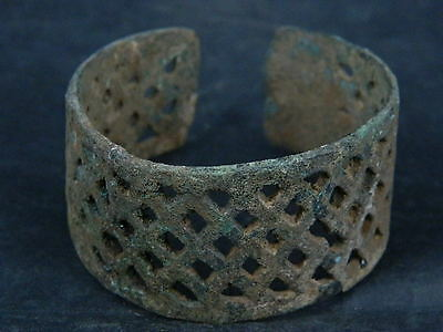 Ancient Bronze Open Work Bracelet Luristan 500 BC No Reserve    #SG4240