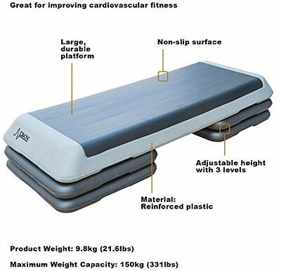 Professional Studio Aerobic Step Cardiovascular Fitness Large Durable Portable