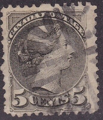 FANCY CANCEL POSTMARK on 5 CENT SMALL QUEEN