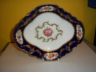 Beautiful antique Aynsley bone china serving dish for T Goode and Co, London.
