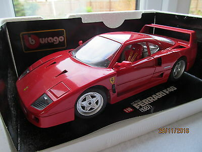 Burago Ferrari F 40 1/18 Scale Car