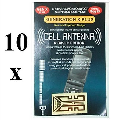 10 x Mobile phone signal booster. Cell antenna. For any mobile