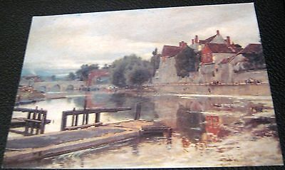 United Kingdom Maidstone view of Old Bridge Painting by Albert Goodwin C14233X