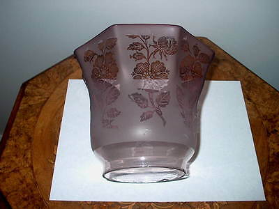 Antique Oil Lamp Shade (Amethyst) Purple