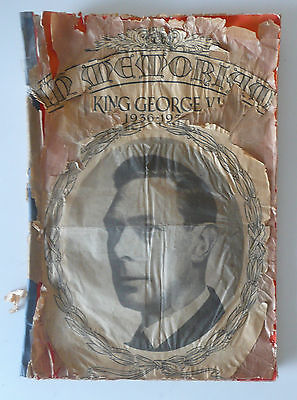 36 Page Newspaper Clippings Scrapbook In Memoriam King George VI 1936 – 1952