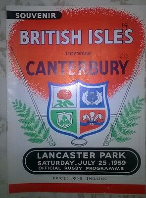 1959 British Lions V Canterbury - Rugby Union Tour To Nz