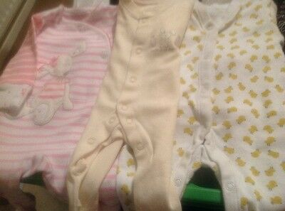 3 Tiny Baby Girl Playsuits