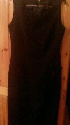 ladies black fitted dress size 12