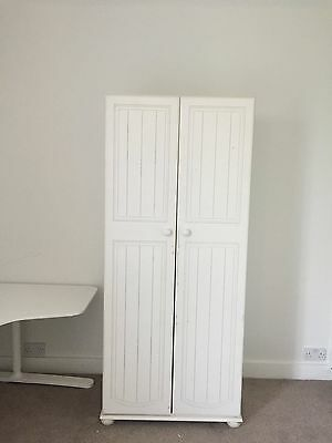 childrens white wardrobe upcycled project