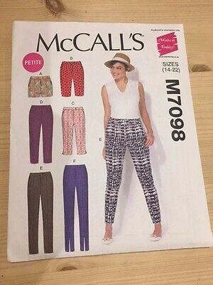 McCall's M7098 Misses trouser and short pattern