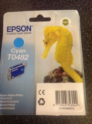 Genuine/Original EPSON T0482 Cyan Ink Cartridge Out Of Date Jan 2015