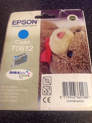 Genuine/Original EPSON T0612 Cyan Ink Cartridge Out Of Date May 2013