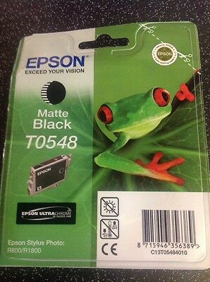 Genuine/Original EPSON T0548 Matte Black Ink Cartridge Out Of Date Oct 2013