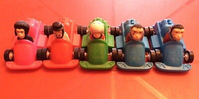 Set Of 5 McDonalds PG Tips Racing Car Monkeys Collectable Toys