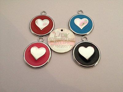 Pet Tag HEART 25mm Desing Dog Cat Tags Personalized FREE Engraved Dogs Cats ID